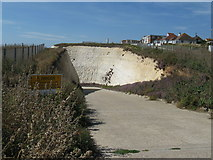 TQ4100 : Authorised vehicles only on road to Peacehaven beach by Dave Spicer