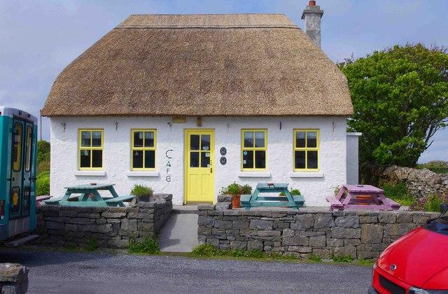 Café at Cill Mhuirbhigh (Kilmurvy), Inishmór (Árainn), Aran Islands, Co. Galway