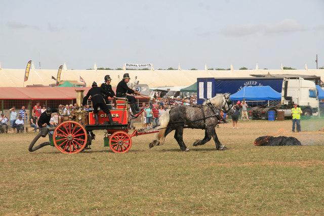 Great Dorset Steam Fair  2013 - where's the fire?