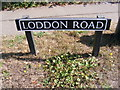 TM3390 : Loddon Road sign by Adrian Cable