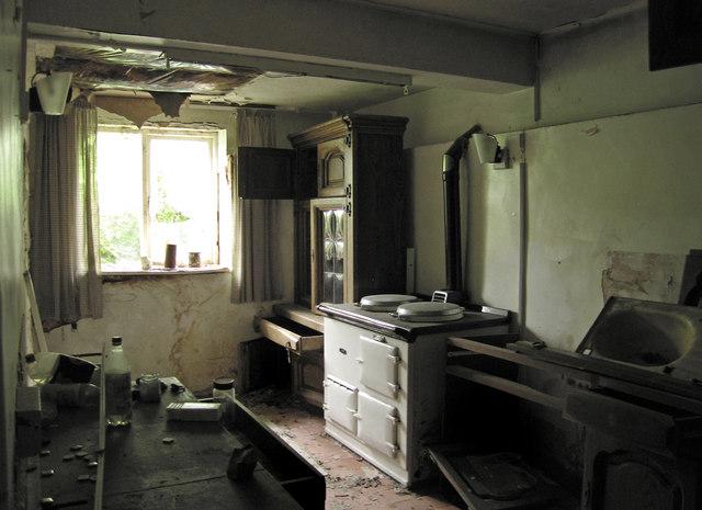 Old farmhouse kitchen on Ynys Gifftan