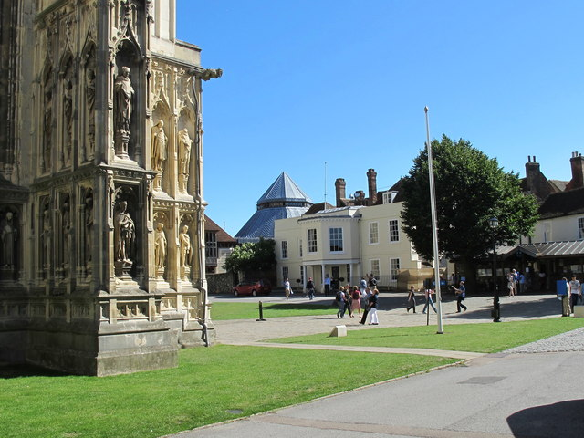 Canterbury Cathedral Close with Lodge
