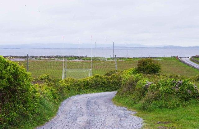 Sports field, near Onaght, Inishmór (Árainn), Aran Islands, Co. Galway