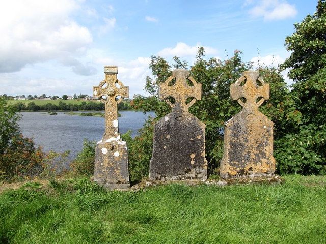 Graves in the old Catholic graveyard  above Corraneary Lough