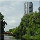 SK5803 : River Soar and The Summit  in Leicester centre by Roger  Kidd