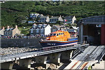 SW3526 : Launching the lifeboat at Sennen Cove by Rod Allday