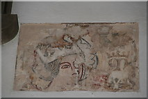 TF3579 : Part of a medieval wall painting in the Church of St. Michael, Burwell by Chris
