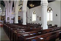 TQ2374 : St John the Evangelist, Putney - South arcade by John Salmon
