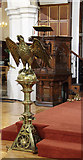 TQ2374 : St John the Evangelist, Putney - Lectern & pulpit by John Salmon