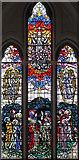 TQ2374 : St John the Evangelist, Putney - Stained glass window by John Salmon