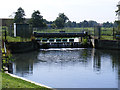 TM3590 : Weir at Wainford on the River Waveney by Adrian Cable