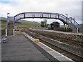 NH1658 : Achnasheen station, footbridge by Richard Dorrell