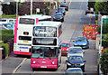 J3775 : Two buses, Sydenham, Belfast by Albert Bridge