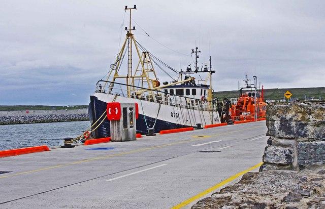 "The trawler ""Village Queen"" (G751) at Cill Rónáin (Kilronan), Inishmór, Aran Islands, Co. Galway"