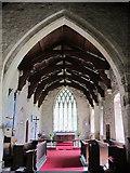 NY9393 : St. Cuthbert's Church, Elsdon - chancel by Mike Quinn