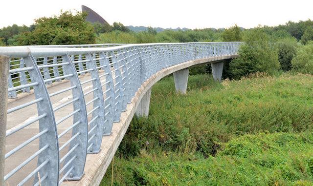 The Millennium footbridge, Ballymena (3)