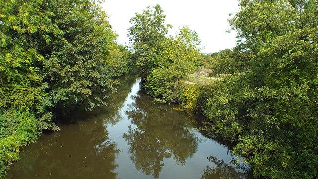 River Medway at Branbridges, East Peckham