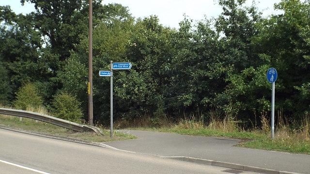 Shared path near East Peckham