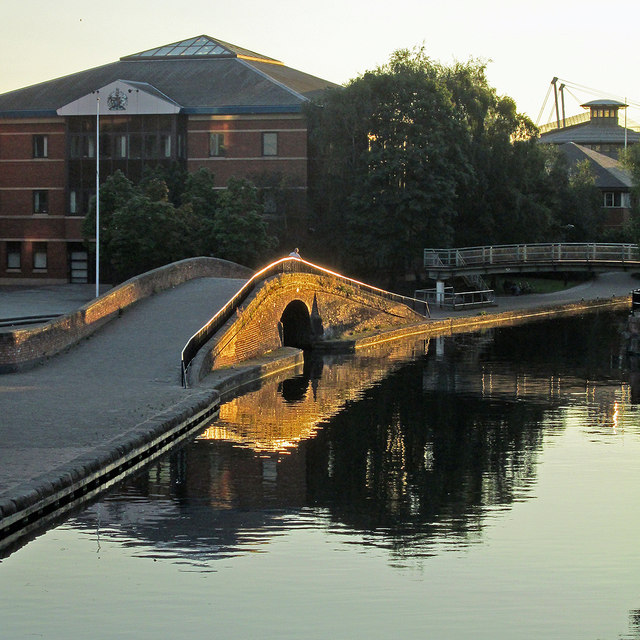 Evening sunlight on the Nottingham Canal by John Sutton