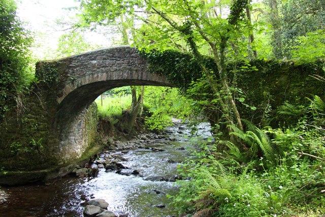Horner Packhorse Bridge over Horner Water