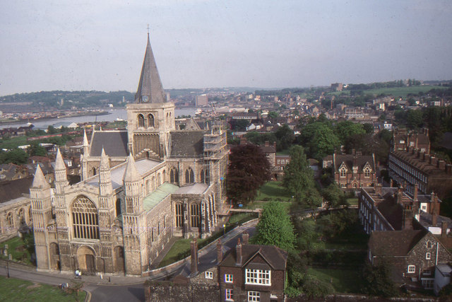Rochester: cathedral and town from the castle