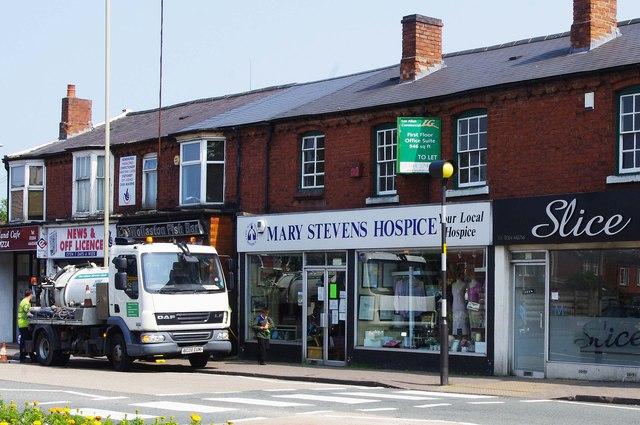 Mary Stevens Hospice charity shop, 103-105 Bridgnorth Road, Wollaston, Stourbridge