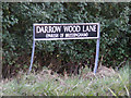TM1082 : Darrow Wood Lane sign by Adrian Cable