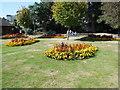 SZ0891 : Flowerbed in Lower Gardens by Paul Gillett