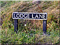 TM0982 : Lodge Lane sign by Adrian Cable
