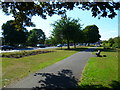 TQ0078 : Path between the A4 and Kederminster Park by Shazz