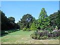 SZ0891 : Flowerbeds, Central Gardens by Paul Gillett