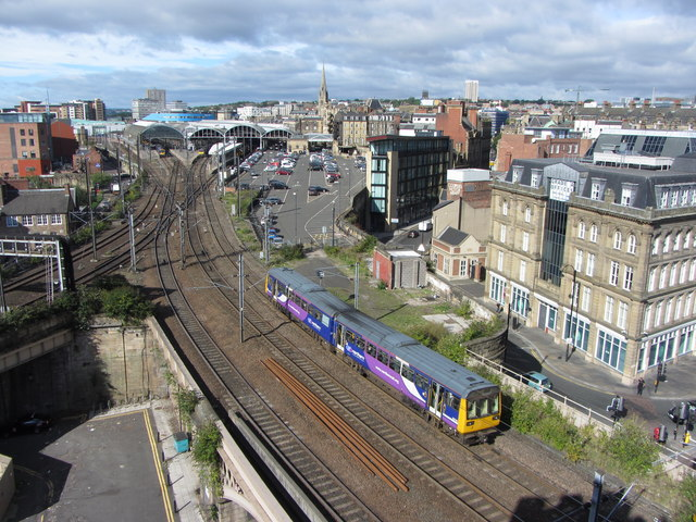 Departure from Newcastle Station