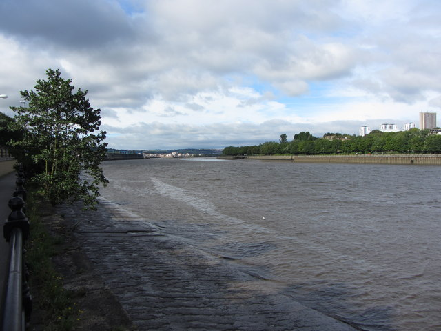 View west along the Tyne
