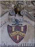 NY9393 : St. Cuthbert's Church, Elsdon - 18th C memorial (detail) by Mike Quinn