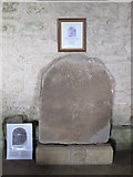 NY9393 : St. Cuthbert's Church, Elsdon - Roman funereal stone by Mike Quinn