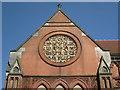 SP0687 : Birmingham School of Art, rose window, west gable by Robin Stott