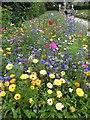 SK2670 : Chatsworth House wild flower bed by Steve  Fareham