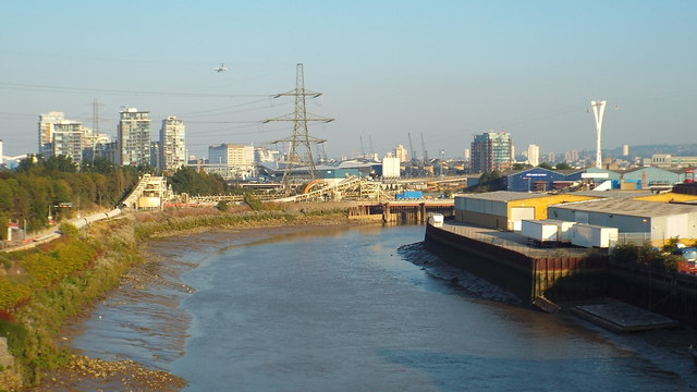 River Lea near Canning Town