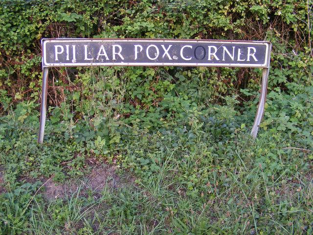 Pillar Box Corner sign