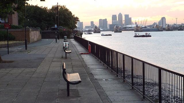 Thames Path at Woolwich Reach