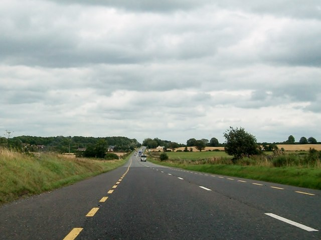 The N52 in the townland of Derrynahinch