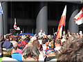 TQ3381 : Speaker at the English Defence League Rally, Aldgate, City of London by Roger Jones