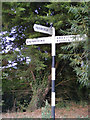 TM0883 : Roadsign on Common Road by Adrian Cable