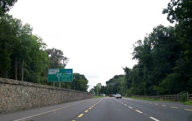 Newly rebuilt section of the wall of the Charleville Demesne