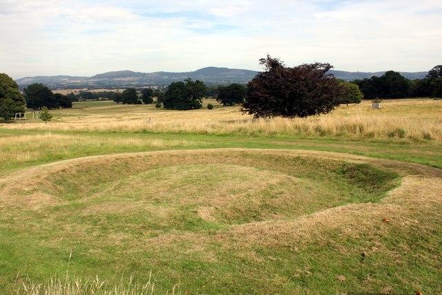 First World War Earthwork in the grounds of Bodelwyddan Castle