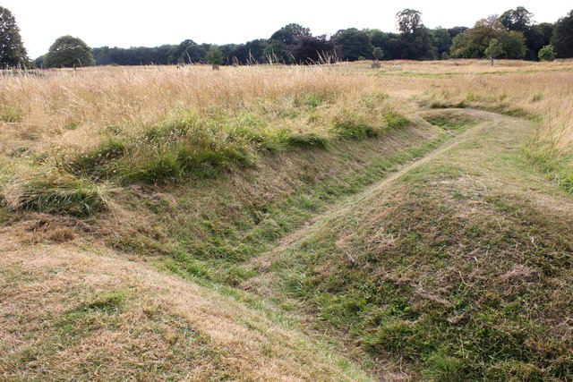 First World War Training Trenches at Bodelwyddan Castle