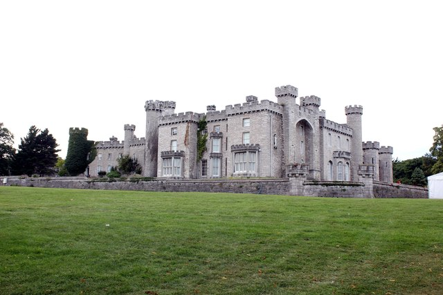 View to Bodelwyddan Castle from the park