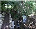 SO0253 : Footbridge over Dulas Brook, Builth Road by Jaggery
