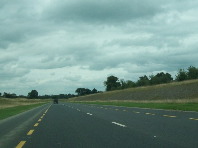 The N52 north of the village of Mucklagh