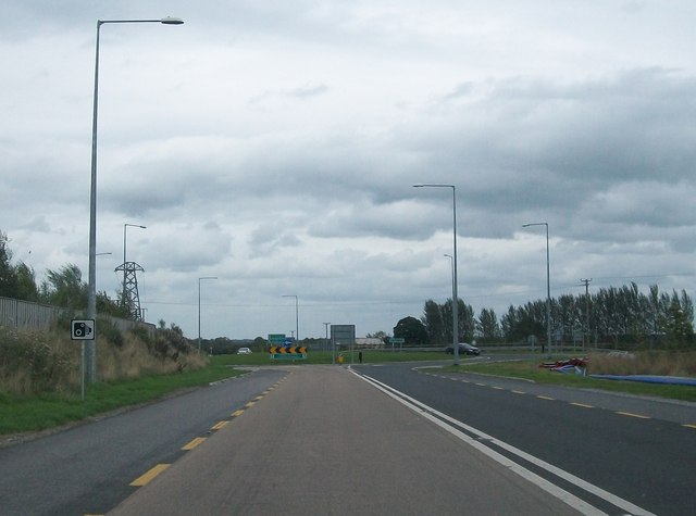 Roundabout on the Tullamore Bypass at the junction of the N52, N80, and R443
